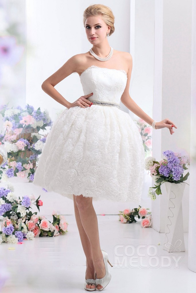 ball-gown-ivory-knee-length-strapless-lace-wedding-dress-b12170-b_2